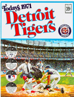 1971 Dell Official Stamp Booklet Detroit Tigers Near-Mint Plus
