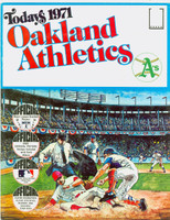 1971 Dell Official Stamp Booklet Oakland Athletics Excellent to Mint