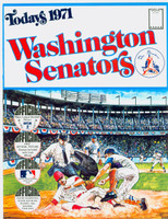 1971 Dell Official Stamp Booklet Washington Senators Near-Mint to Mint
