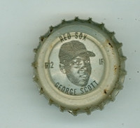 1967 Coke Caps Red Sox 12 George Scott Boston Red Sox Excellent to Mint