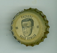 1964 Coke Football Packers 29 Boyd Dowler Green Bay Packers Good to Very Good