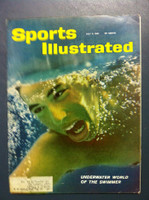 1961 Sports Illustrated July 3 Swimming Very Good to Excellent