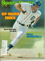 1980 Sports Illustrated March 24 Kirk Gibson : Rip Roaring Rookie Excellent to Mint
