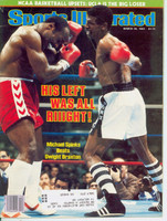 1983 Sports Illustrated March 28 Michael Spinks (cover crease) Very Good