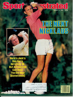 1985 Sports Illustrated March 11 Jack Nicklaus and son Gary Excellent
