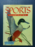 1954 Sports Illustrated November 15 Spoonbill Duck Excellent to Mint [Very Clean]