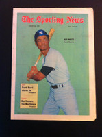 1970 Sporting News August 22 Roy White Excellent to Mint lt. center fold from mailbox, toning on binding
