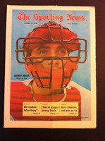 1970 Sporting News October 24 Johnny Bench Excellent to Mint lt. center fold from mailbox, otherwise sharp