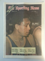 1971 Sporting News March 27 Mel Daniels Excellent to Mint lt. center fold from mailbox