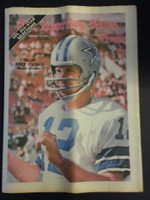 1972 Sporting News January 15 Roger Staubach (Heavy fold from Original Mailer - o/w Sharp!) Very Good to Excellent