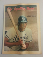 1972 Sporting News July 8 Lou Piniella Excellent to Mint lt. center fold from mailbox