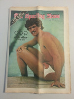 1972 Sporting News August 26 Mark Spitz Excellent to Mint lt. center fold from mailbox