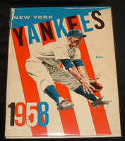 1958 Yankees Yearbook Jay Excellent to Mint