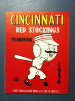 1954 Reds Yearbook (50 pg) Near-Mint