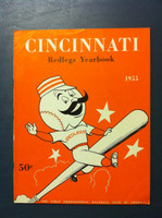 1955 Reds Yearbook - Kluszewski Photo on back cover (50 pg) Excellent