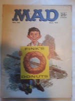 Mad Magazine #90 October 1964 Fink's Donuts (Ringo Back Cover) Fair to Good