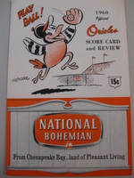 1960 Orioles Program vs Indians (20 pg) Unscored Near-Mint [Very lt wear on cover, feels uncirculated]