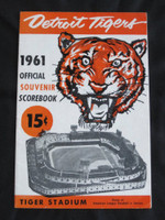 1961 Tigers Program vs Indians (20 pg) Scored August 6 - Mossi vs Perry (Det 2-1, Mossi GC) Very Good to Excellent Plus [Lt scuffing on cover; ow very clean]