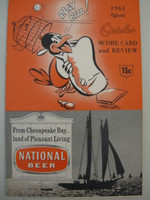 1961 Orioles Program vs Red Sox (28 pg) Unscored Near-Mint [Very lt wear on cover, feels uncirculated]