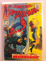 Spiderman #59 First MJ Cover Apr 68 Fair Heavy wear on cover; staple rust, creasing; surface wear; contents readable