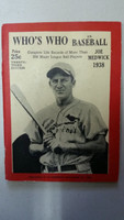 1938 Who's Who in Baseball Joe Medwick Very Good [Lt soiling on cover, staple rust; contents very clean]