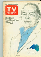 1976 TV Guide Feb 28 Bob Hope Los Angeles edition Very Good to Excellent - No Mailing Label  [Lt toning on cover; contents fine]