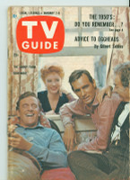 1960 TV Guide Jan 2 Cast of Gunsmoke Southern Ohio edition Very Good - No Mailing Label  [Paper loss on top of binding, ow ex]