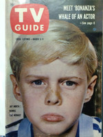 1960 TV Guide Mar 5 Dennis the Menace Hazleton-Williamsport edition Very Good to Excellent - No Mailing Label  [Wear, scuffing and lt creasing on cover; contents fine]