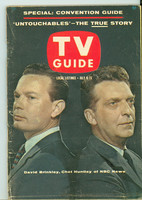 1960 TV Guide Jul 9 Huntley and Brinkley Chicago edition Very Good to Excellent - No Mailing Label  [Lt scuffing along binding, ow clean]