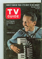 1967 TV Guide Apr 29 Lawrence Welk Philadelphia edition Very Good - No Mailing Label  [Lt wear and scuffing on cover, paperclip mark on cover]