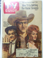 1968 TV Guide Aug 17 Cast of Gunsmoke Eastern New England edition Very Good to Excellent  [Lt wear on both covers, # WRT on cover logo]
