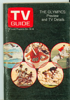 1968 TV Guide Oct 12 Olympics Preview Eastern Washington edition Excellent - No Mailing Label  [Scuffing along binding, ow clean]