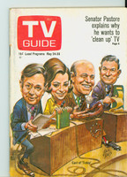 1969 TV Guide May 24 Today Show cast Eastern Illinois edition Very Good to Excellent - No Mailing Label  [Lt wear and scuffing on cover, ow clean]