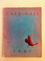 1951 Cardinals Yearbook (from the Red Schoendienst collection) Fair to Good