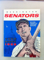 1958 Senators Yearbook (50 pg) Roy Sievers Cover Excellent to Mint Very sl ding on both covers, ow like new