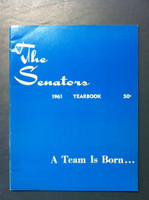 1961 Senators Yearbook (52 pg) First Year Expansion Team Near-Mint Very sl ding on both covers, ow like new