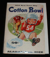 1954 Cotton Bowl Program Excellent to Mint