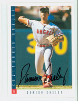 Damion Easley AUTOGRAPH 1993 Score Angels 
