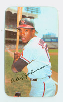 1971 Topps Baseball Supers 8 Alex Johnson California Angels Excellent