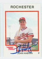 John Habyan AUTOGRAPH 1987 ProCards Rochester Red Wings 