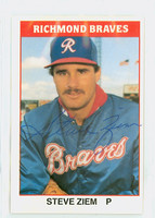 Steve Ziem AUTOGRAPH 1987 TCMA Richmond Braves 