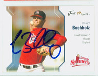 Clay Buchholz AUTOGRAPH 2006 Just Lowell Spinners 