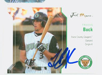 Travis Buck AUTOGRAPH 2006 Just #6 Kane County Cougars 