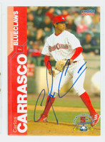 Carlos Carrasco AUTOGRAPH 2005 Choice Lakewood Blue Claws 