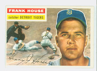 1956 Topps Baseball 32 Frank House Detroit Tigers Excellent to Mint Grey Back