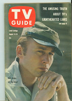 1960 TV Guide Aug 13 The Rebel Chicago edition Excellent - No Mailing Label  [Lt wear on cover, contents fine]