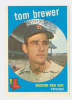 Tom Brewer AUTOGRAPH 1959 Topps #55 Red Sox CARD IS VG/EX, OC T/B  [SKU:BrewT449_T59BBV]