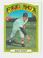 Ray Culp AUTOGRAPH 1972 Topps #2 Red Sox CARD IS CLEAN VG/EX