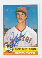 Rick Burleson AUTOGRAPH 1976 Topps #29 Red Sox CARD IS CLEAN VG/EX  [SKU:BurlR2641_T76BBV]