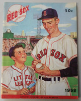 1958 Red Sox Yearbook Excellent Very lt wear on cover, very clean example
